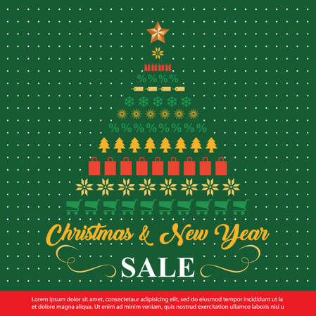 Christmas Sale background . winter sale banner design. vector illustration