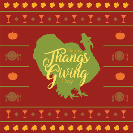 Happy  thanksgiving day background. Happy  thanksgiving day banner design. Vector illustration Illustration