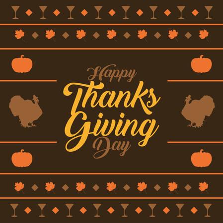 Happy  thanksgiving day background. Happy  thanksgiving day banner design. Vector illustration Stock Illustratie