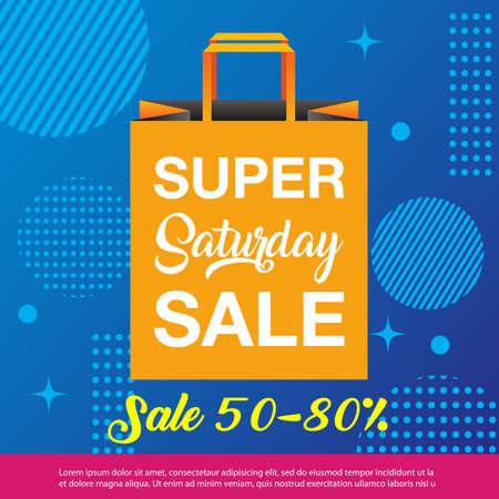 Super Saturday sale background. Super Saturday sale banner design. vector illustration Illusztráció