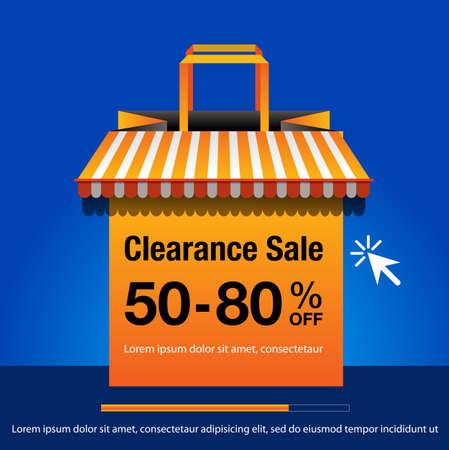 Clearance Sale background. Clearance Sale banner design. vector illustration