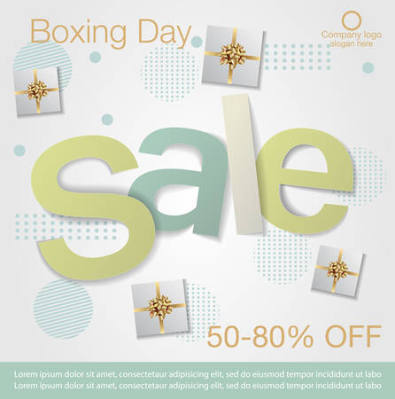 Boxing Day Sale background. Boxing Day sale banner design. vector illustration