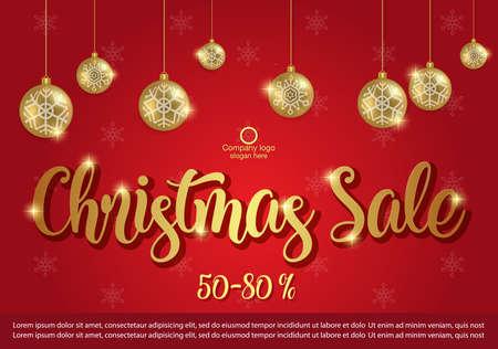 Christmas Sale background. winter sale banner design. vector illustration