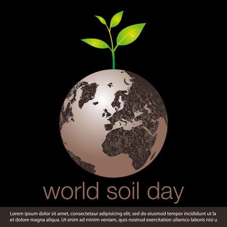 world soil day concept banner. vector illustration