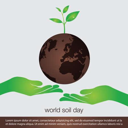 world soil day concept banner.vector illustration Ilustrace