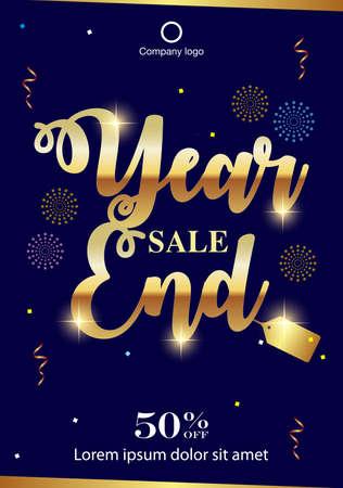Year End Sale background. Year End sale banner design. vector illustration