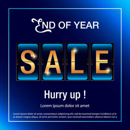 End of year sale background. Sale banner template design.