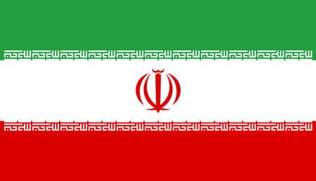 Flag of Iran vector illustration