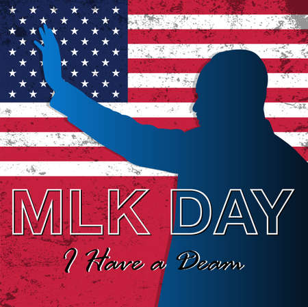 Vector Illustration of Martin Luther King Jr. Day background.Illustration of Martin Luther King, Jr. to celebrate MLK day.