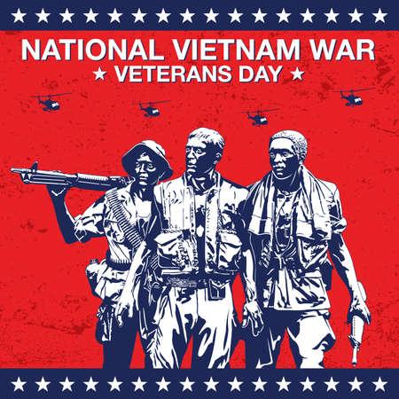National Vietnam War Veterans Day Banner Vector Illustration