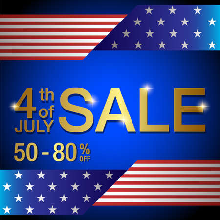 4th of july sale banner,Independence day of United States of America  sale Background vector illustration 일러스트