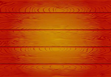 Brown Wooden Planks Background Vector Illustration Ilustração