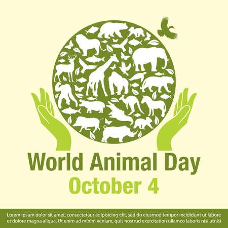 World Animal Day Banner Vector illustration
