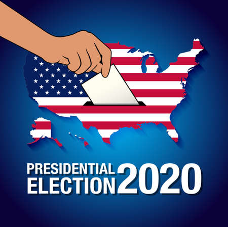 Presidential Election 2020 in United States. Poster, card, banner and background. Vector illustration