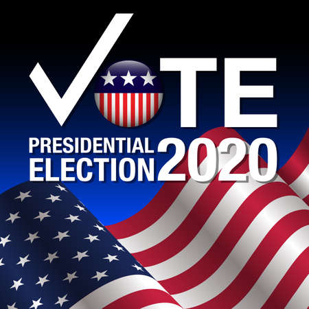 2020 United States presidential election. Poster, card, banner and background. Vector illustration