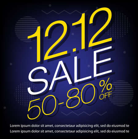 12.12 Shopping day sale banner or poster design. 일러스트