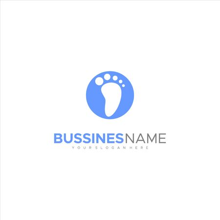 Foot Logo footprint foot mark leg walks vector logo image icon