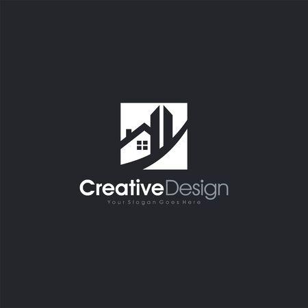 Home Logo Vector Real Estate Design letter symbol business company vector icon