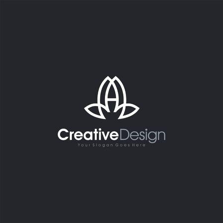 Letter A Logo Yoga Logo icon letter symbol business company vector icon Logo