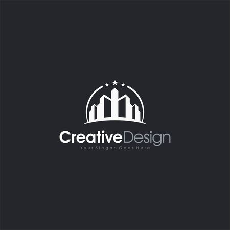 modern real estate logo building letter symbol business company vector icon