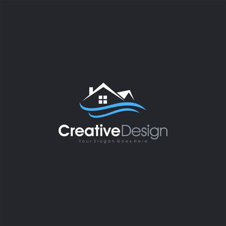 Real Estate Home Logo Water Resistance Design Vector letter symbol business company vector icon