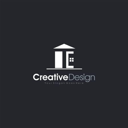 Real Estate Icon Letter TE Vector letter symbol business company vector icon Illusztráció