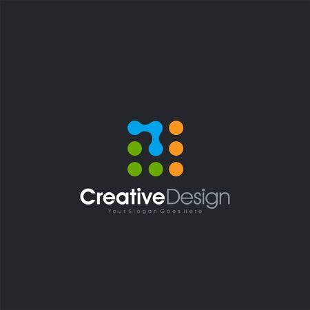 Vector Icon Dots Letter T icon Design Business Template design letter symbol business company vector icon Ilustracja