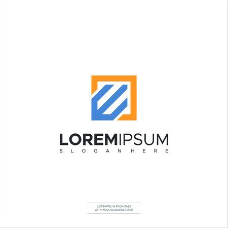 Initial Letter E Box Concept Logo template design. Minimalist letter logo vector design