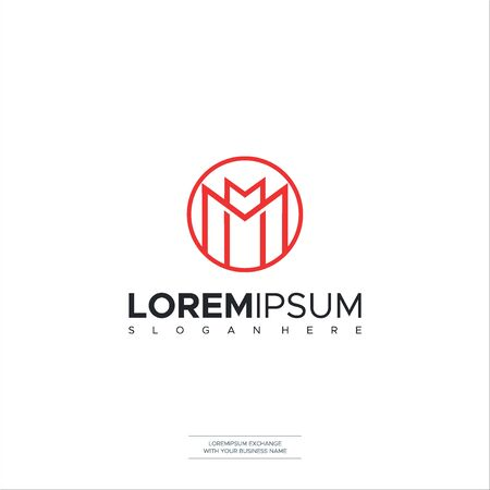 Letter M logo Construction Icon illustration vector design Vector Illustration Logo