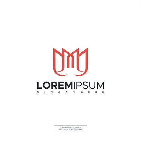 Letter M logo icon design template elements. Vector color sign Vector Illustration Logo