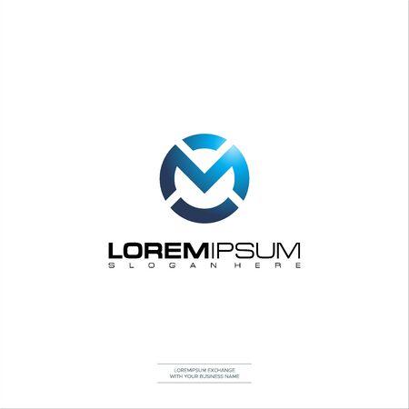 Letter CM logo icon design template elements Initial C M Design