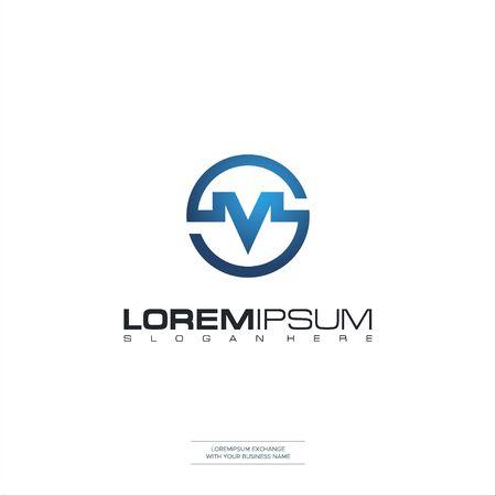 Letter SM logo icon design template elements Initial S M Vector Illustration
