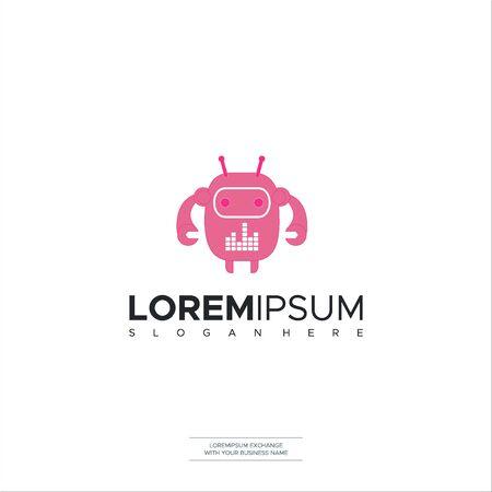 Robotic Logo Icon Symbols Vector Template Design