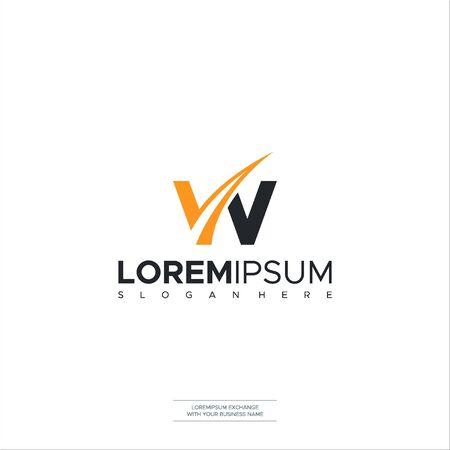 W Road Letter Logo Design Template Vector Elements