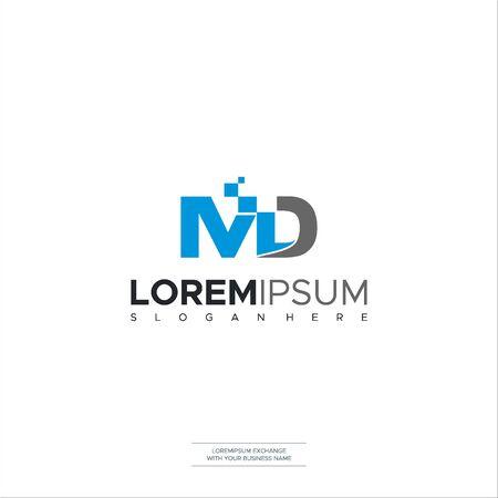 Initial MD Letter Logo Design Template Vector Design vector symbol business logo design