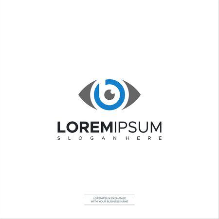 Eye Care Solutions Letter B Optic Icon Logo Symbols Vector Illustration Stock Illustratie