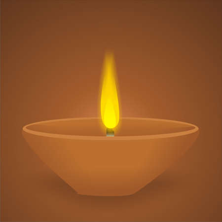 Diwali Lamp Vector