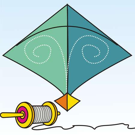 indian festival: Kite Illustration
