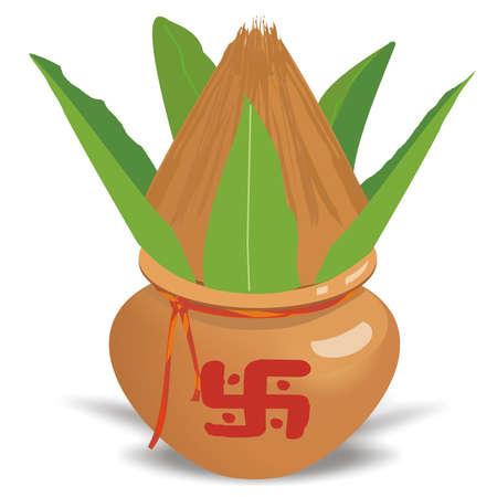 Puja Kalash para Festival indiano e Puja