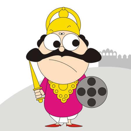 Ravan with one head Illustration