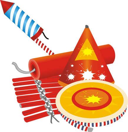 Diwali Crackers Illustration