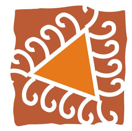 mandna design with folk art