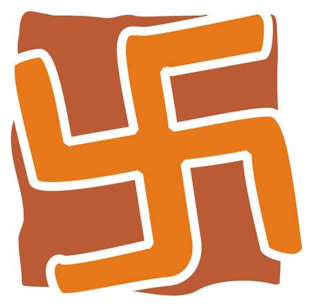 mandna design with swastika