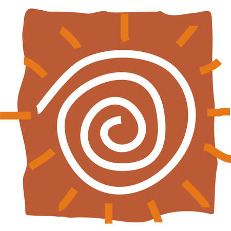 mandna design with sun  Illustration