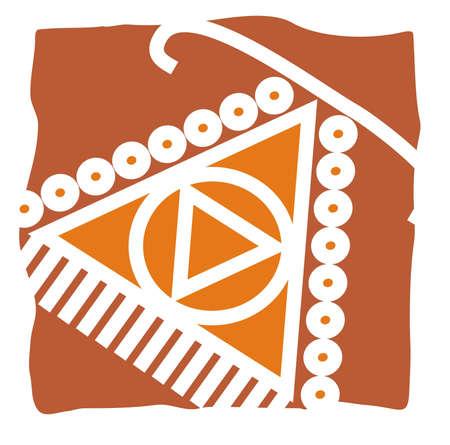 projeto mandna com a arte popular Ilustra��o