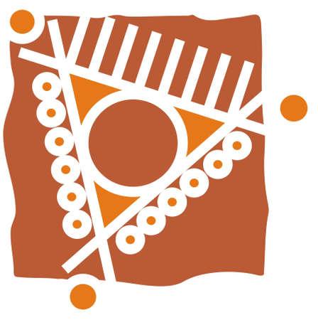 mandana design with folk art
