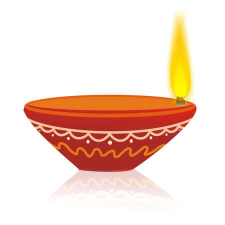 Diwali Diya Illustration