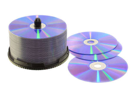 cd: stacks of CD or DVD