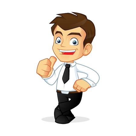 uomo felice: Illustrazione del fumetto di un uomo d'affari