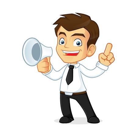 caras felices: Ilustraci�n de dibujos animados de un hombre de negocios Vectores